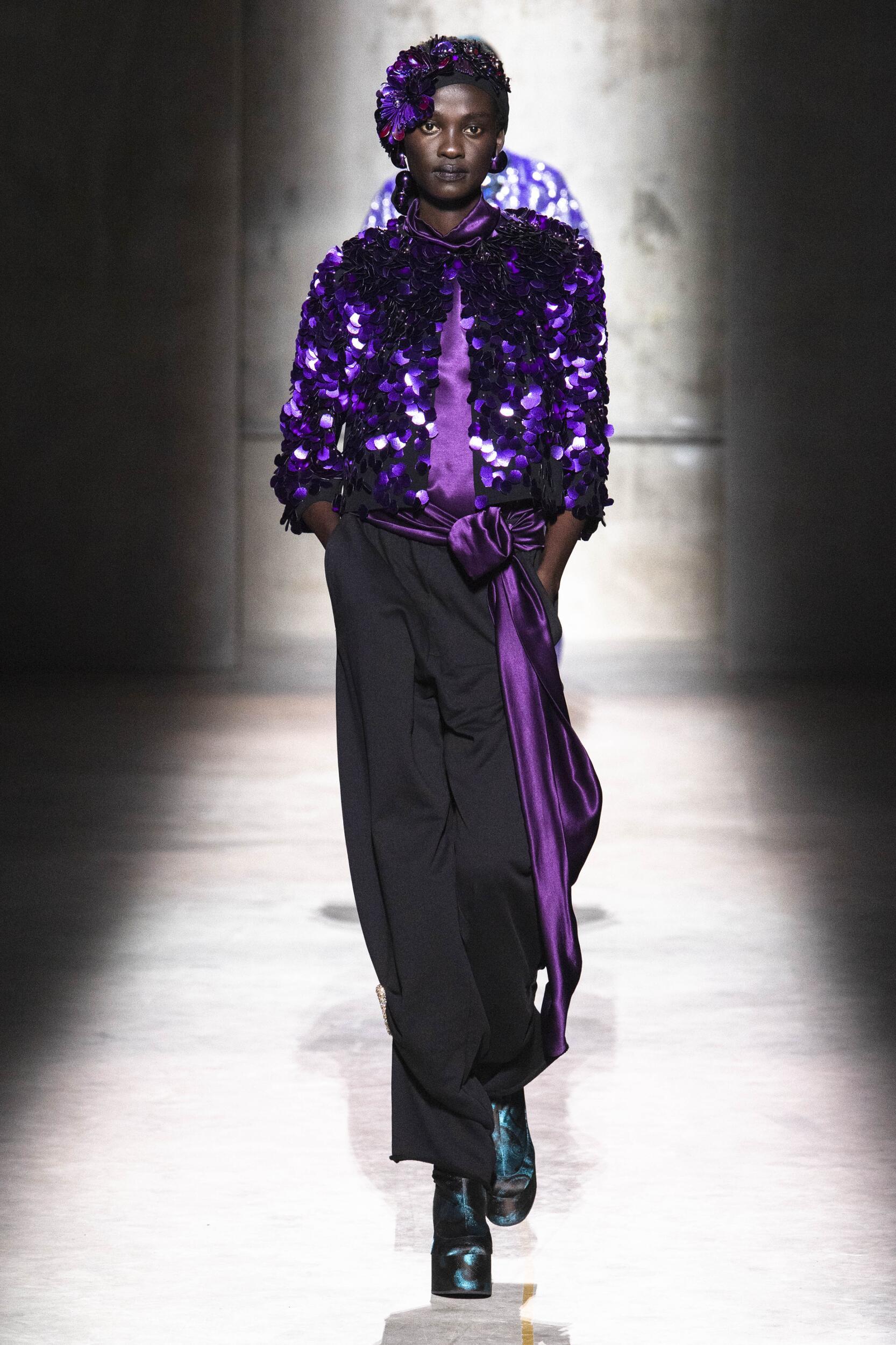 2020 Dries Van Noten Catwalk Paris Fashion Week