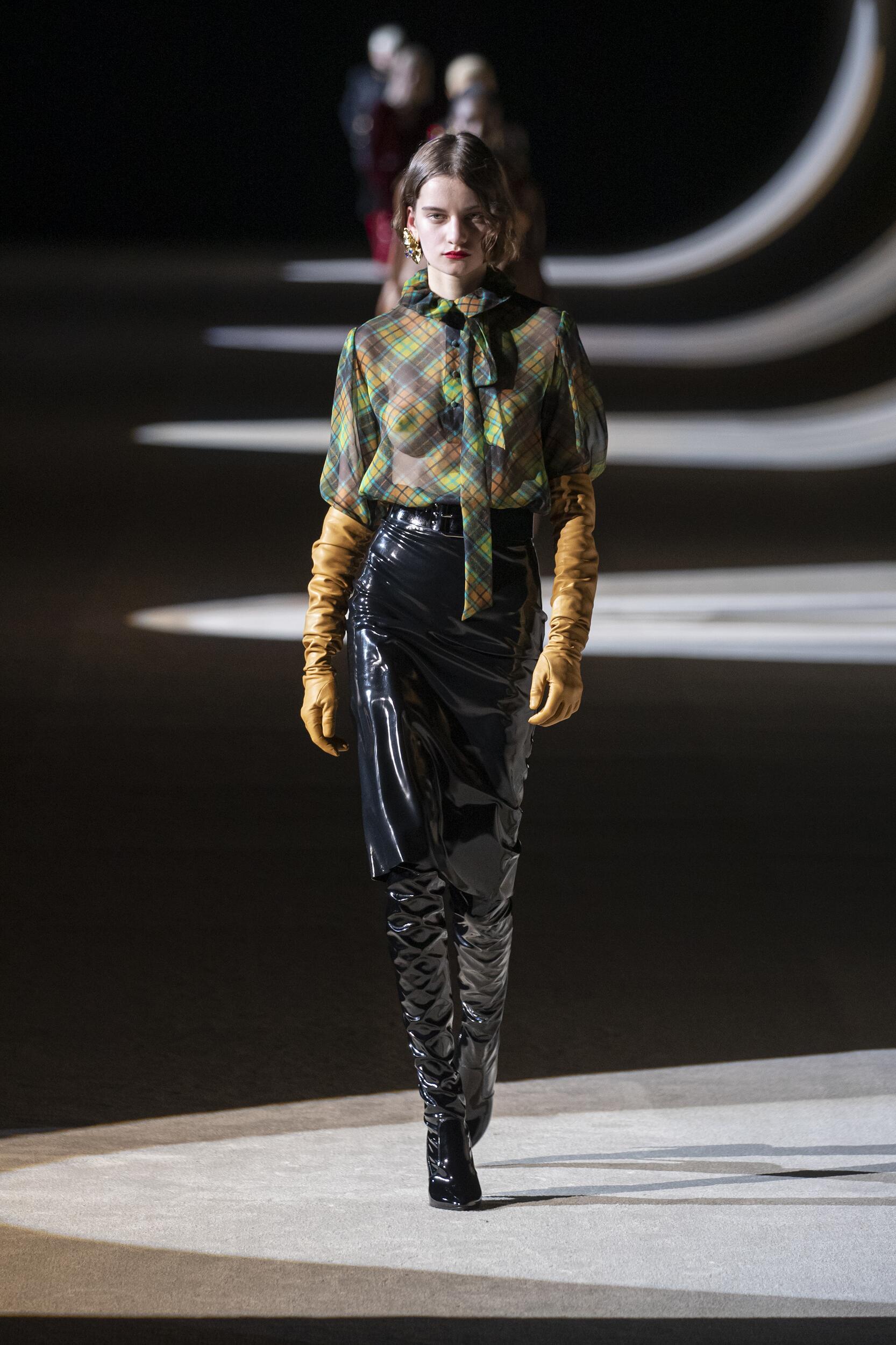 2020 Saint Laurent Catwalk Paris Fashion Week