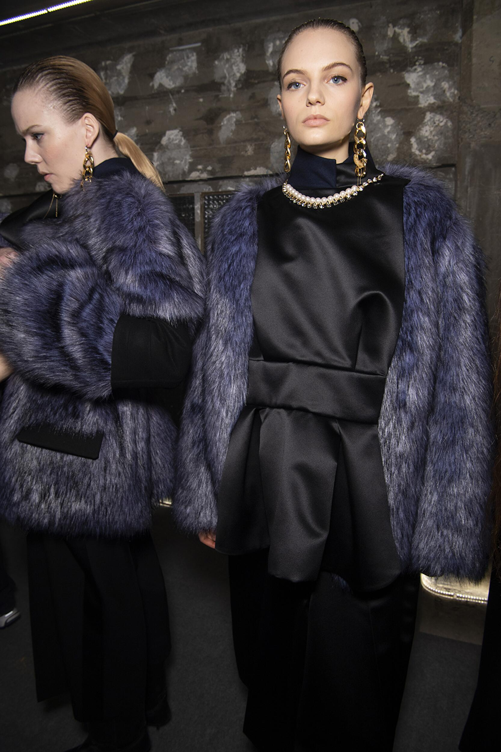 Backstage Sacai Models 2020