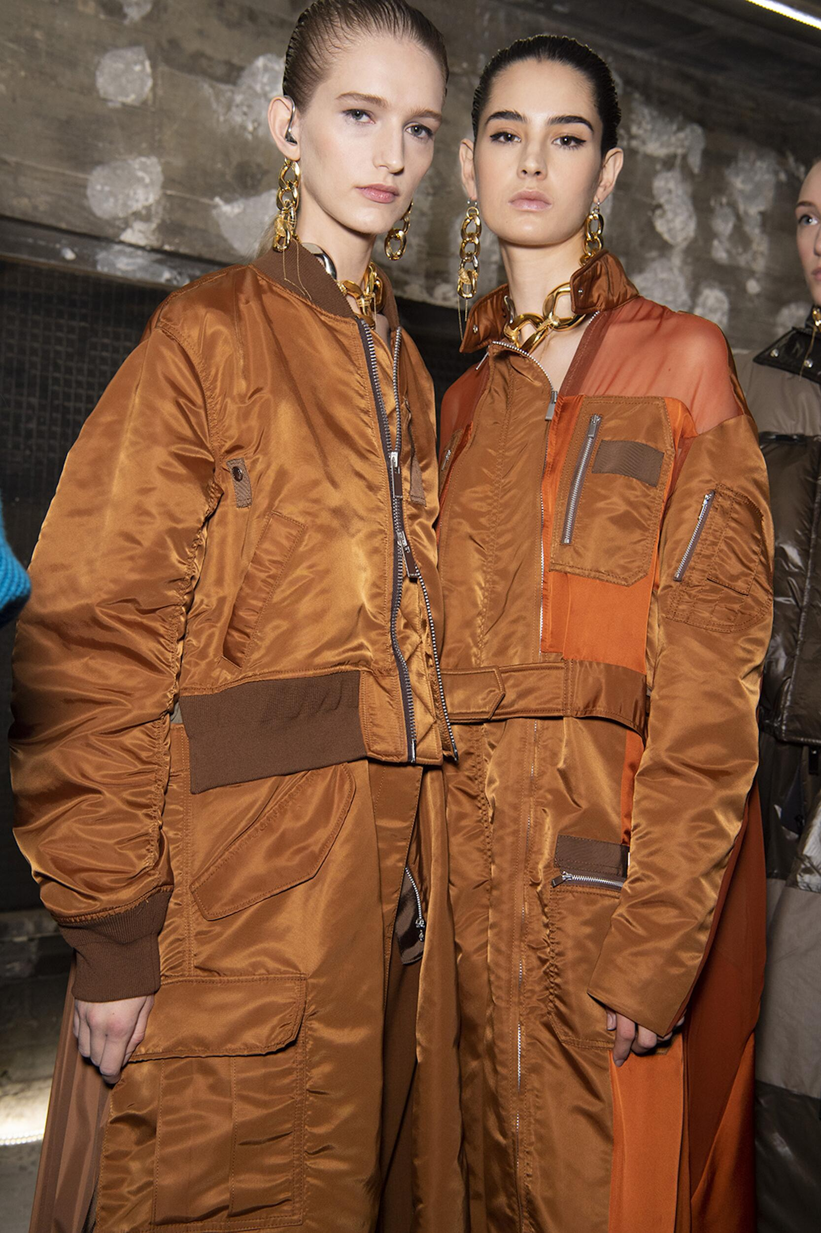 Backstage Sacai Models Fall Winter 2020