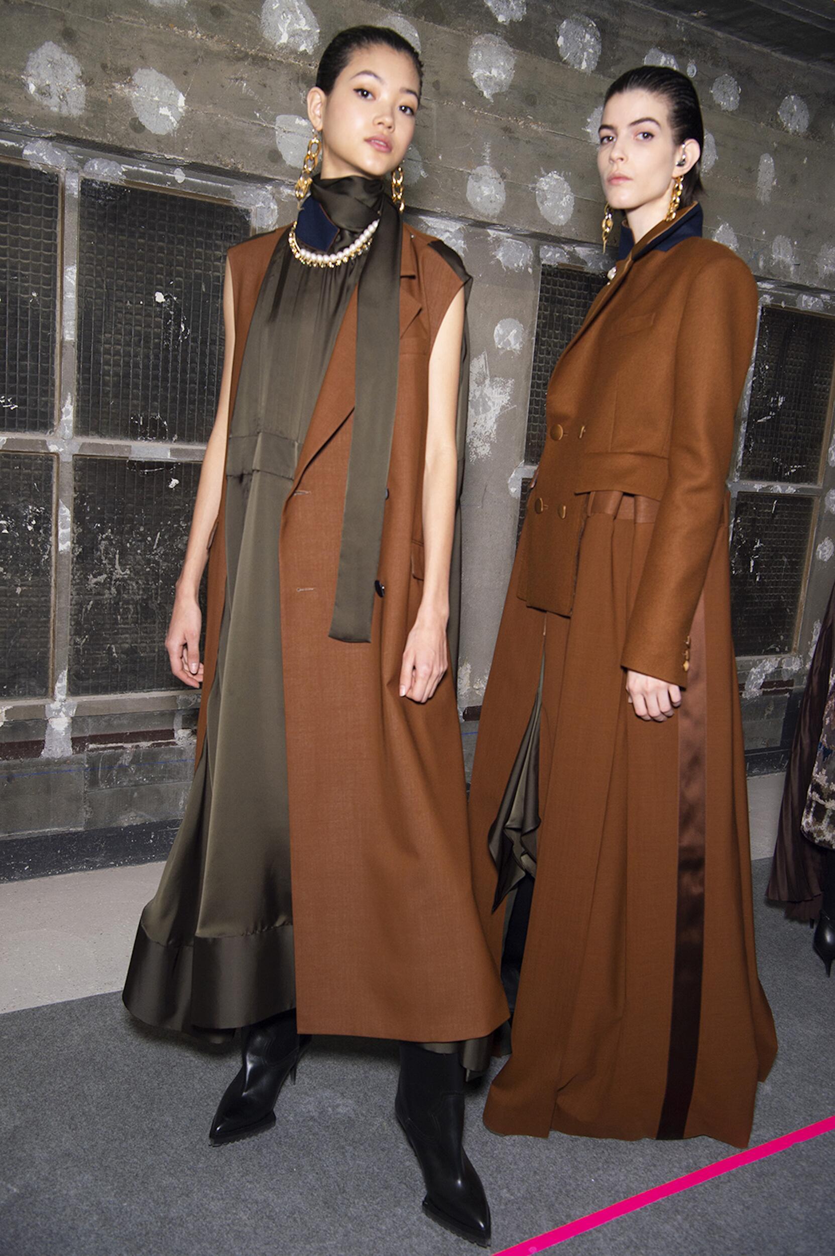 Backstage Sacai Models Paris
