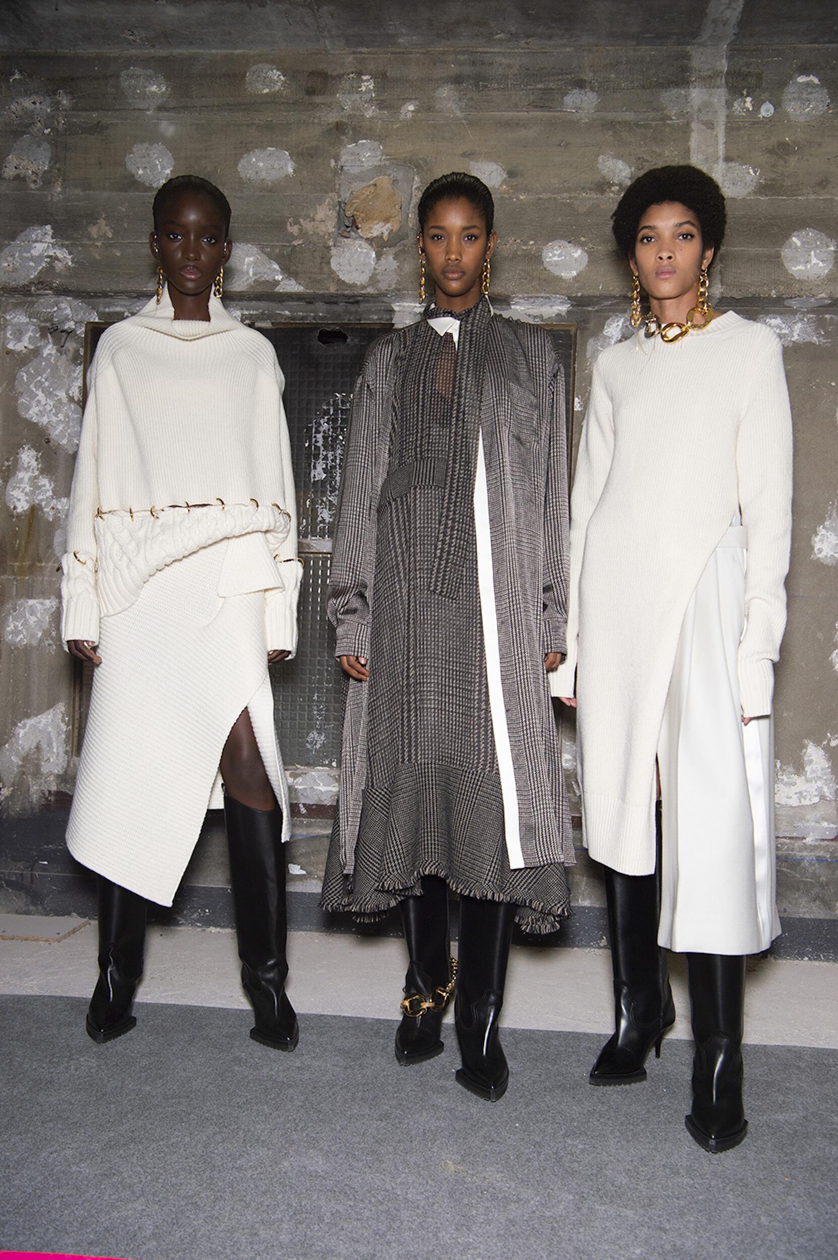 Backstage Sacai Paris Fashion Week Models