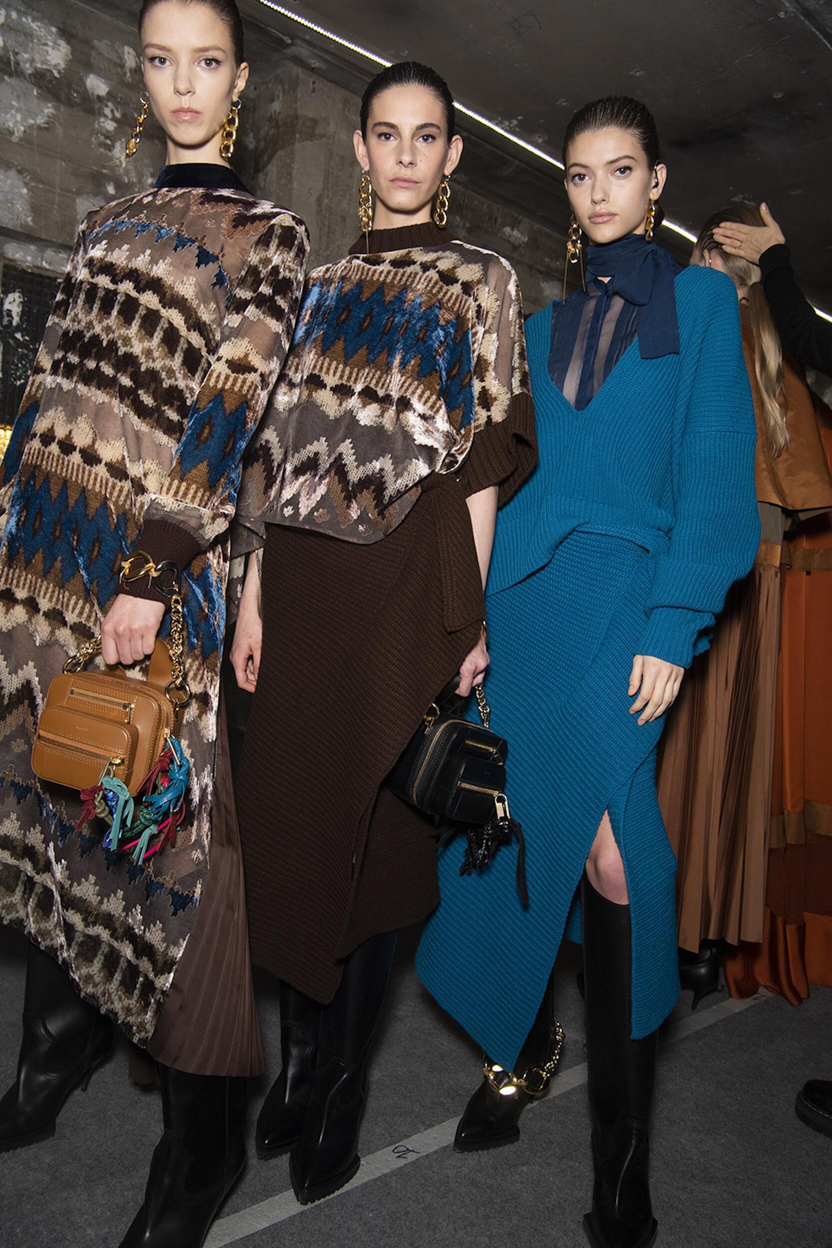 Backstage Sacai Women Models 2020 Style