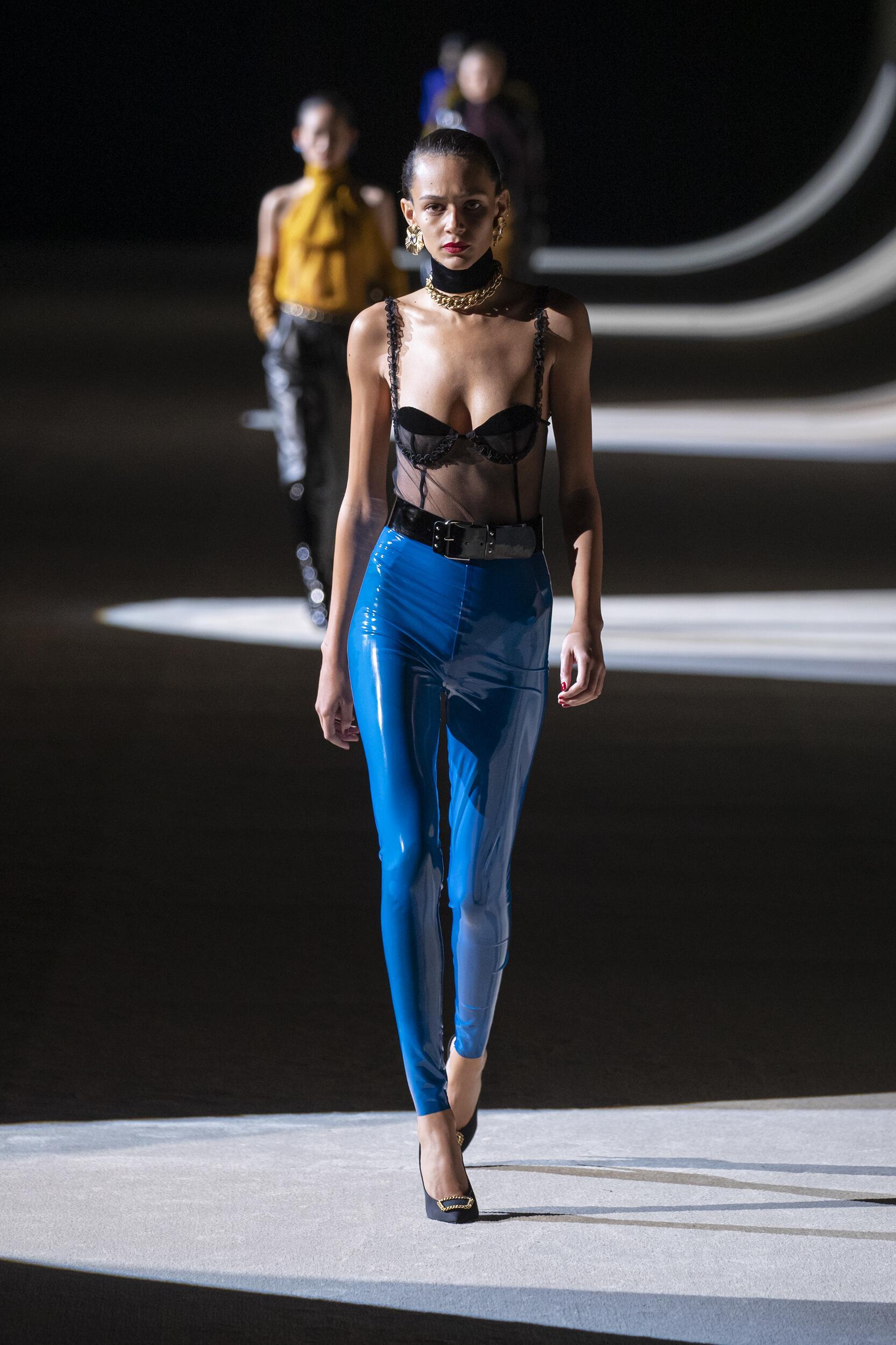 Catwalk Saint Laurent Women Fashion Show Winter 2020