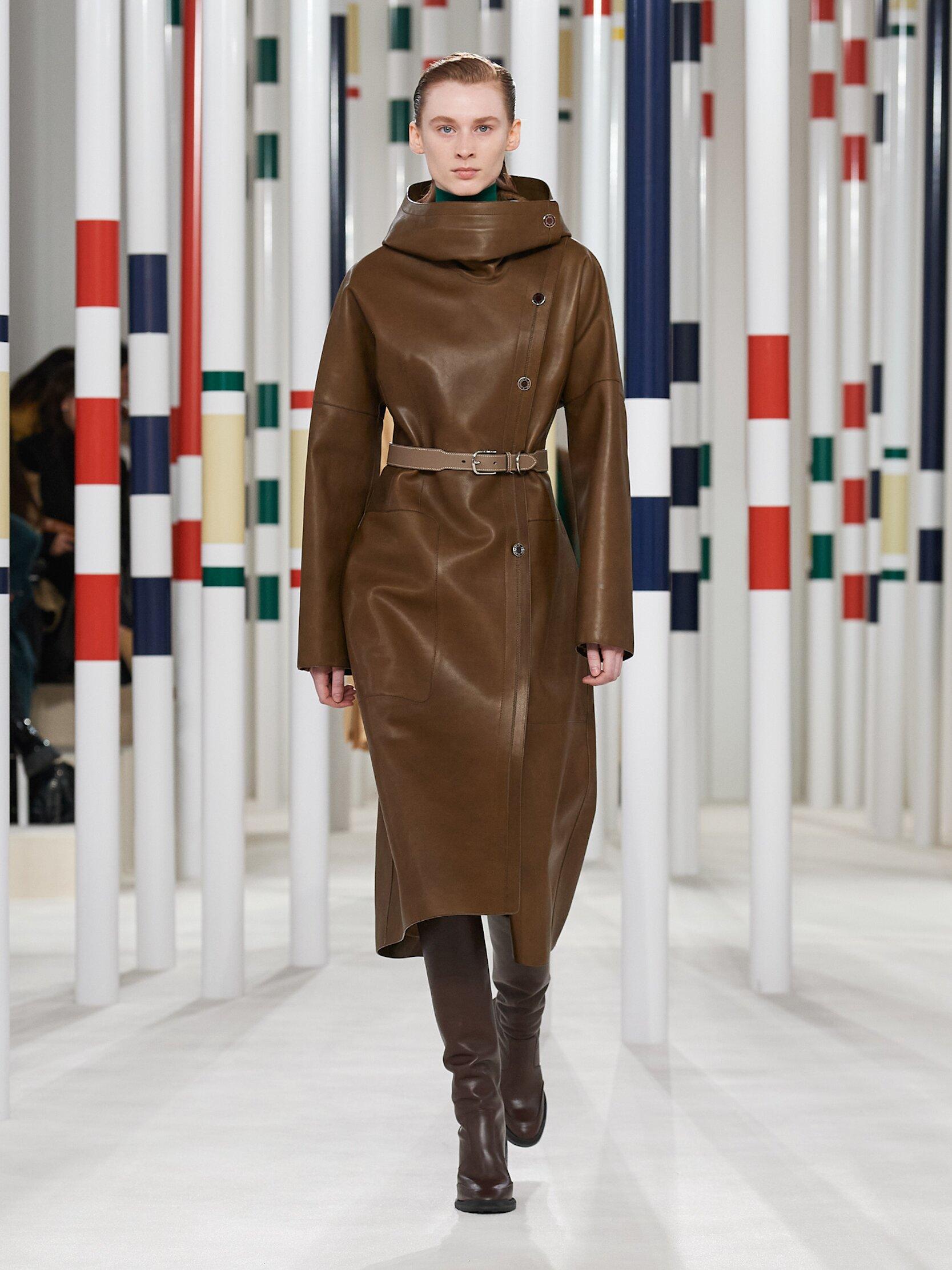 Fashion 2020 Runway Woman Hermès Winter
