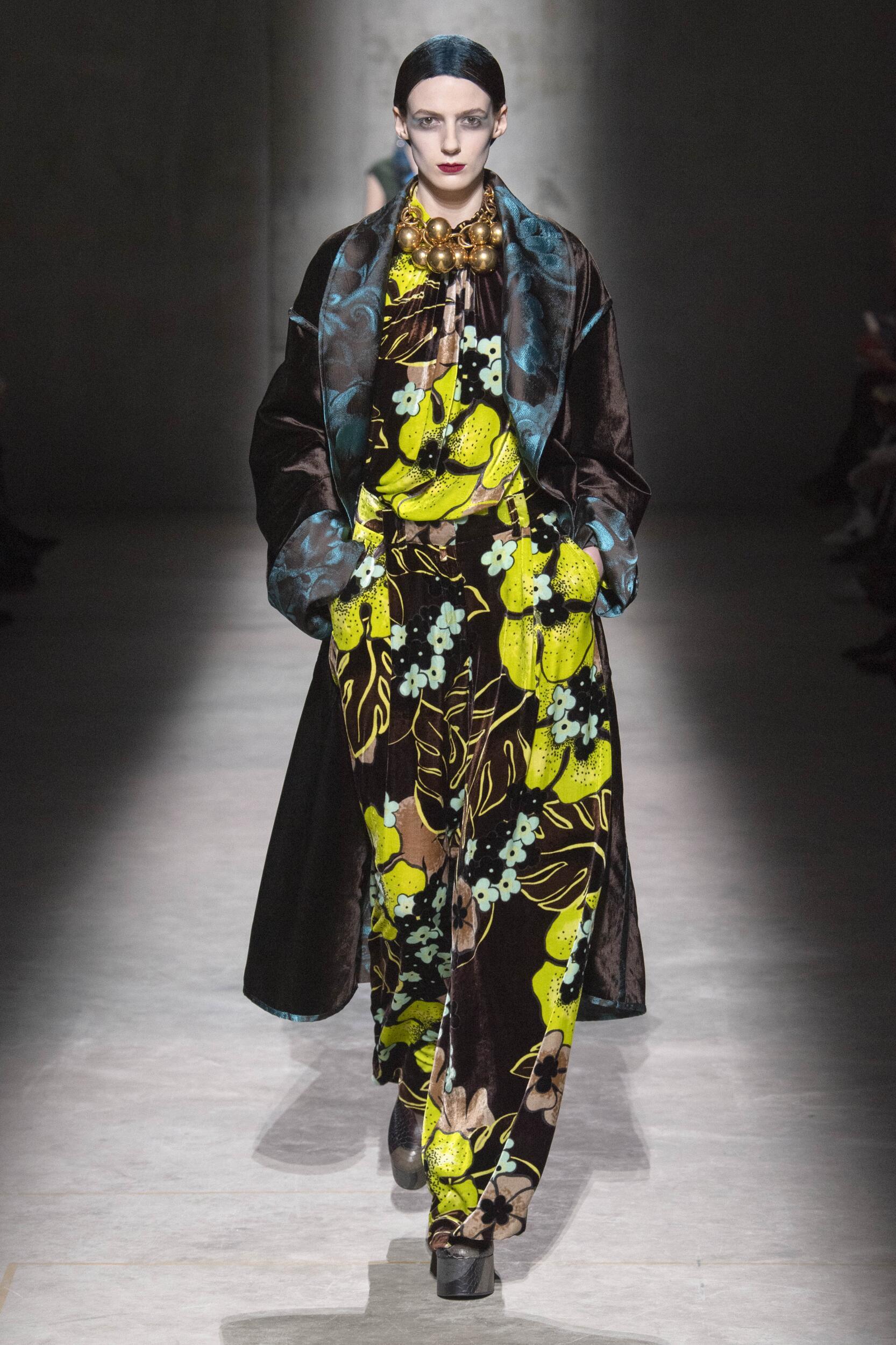 Fashion Model Dries Van Noten Catwalk