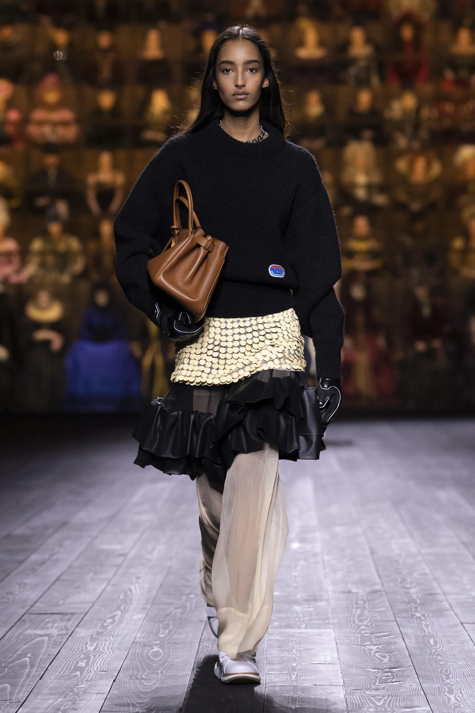 Fashion Model Louis Vuitton Catwalk