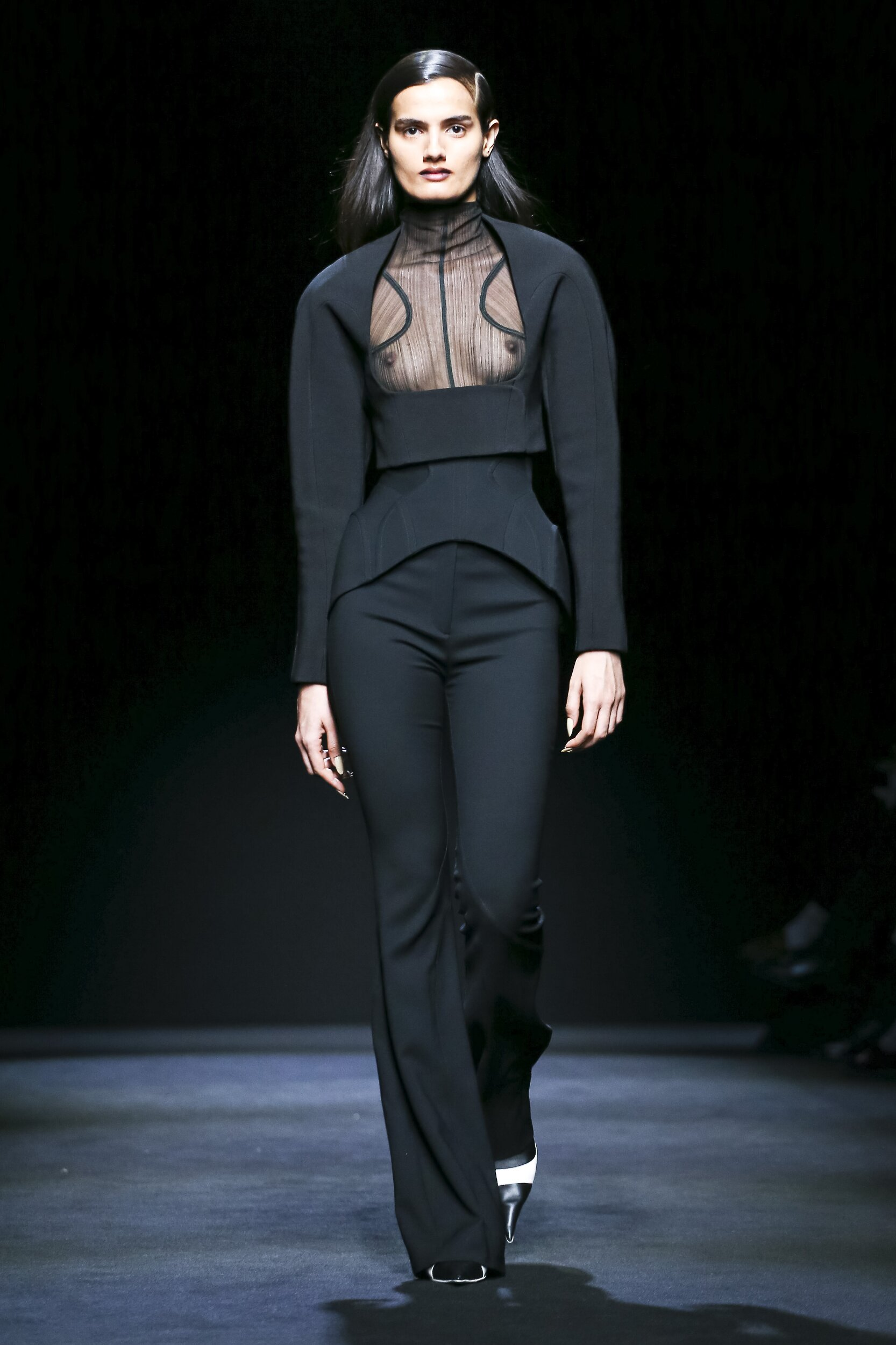 Fashion Model Mugler Catwalk