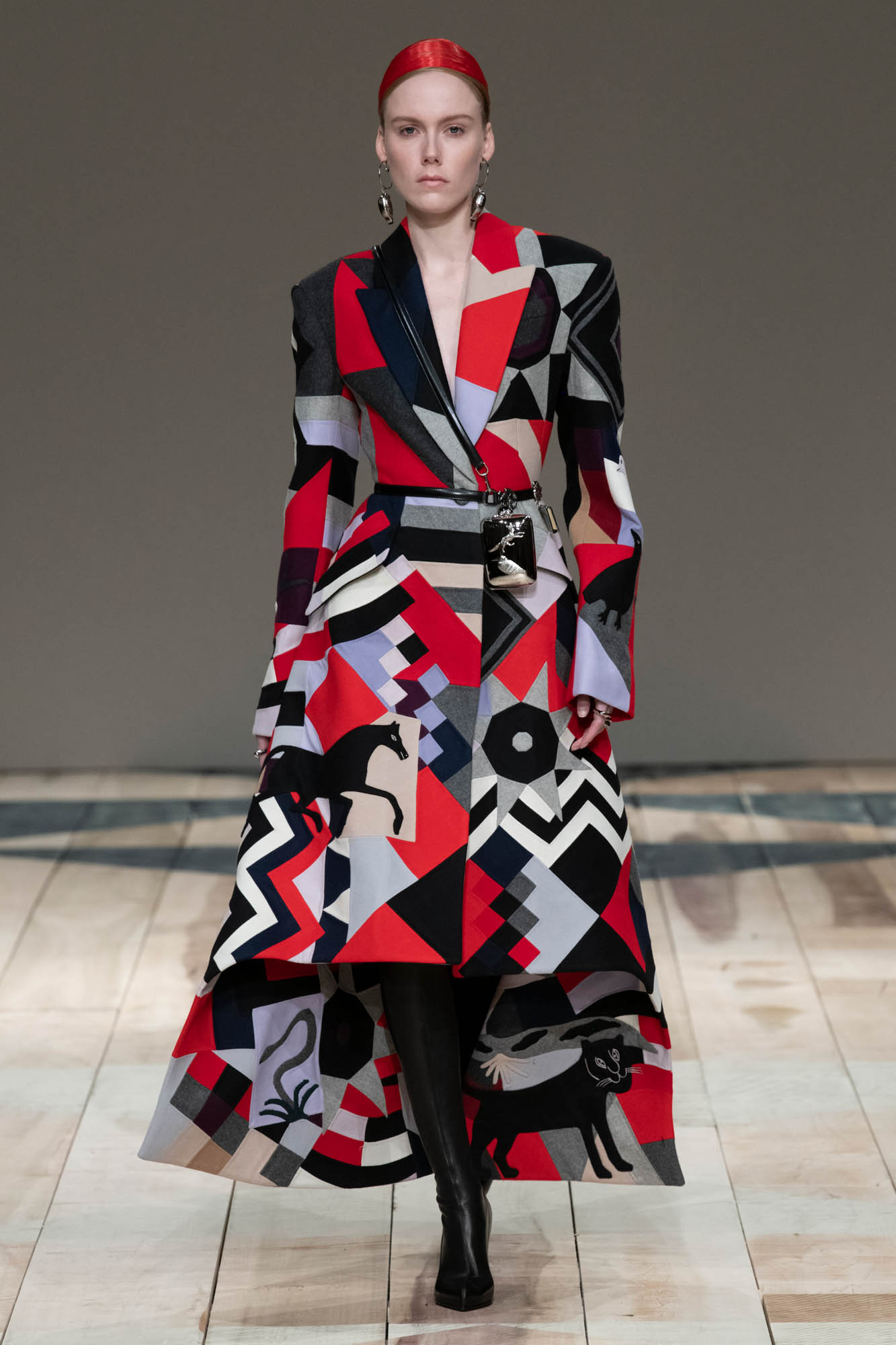 Fashion Show Woman Model Alexander McQueen Catwalk