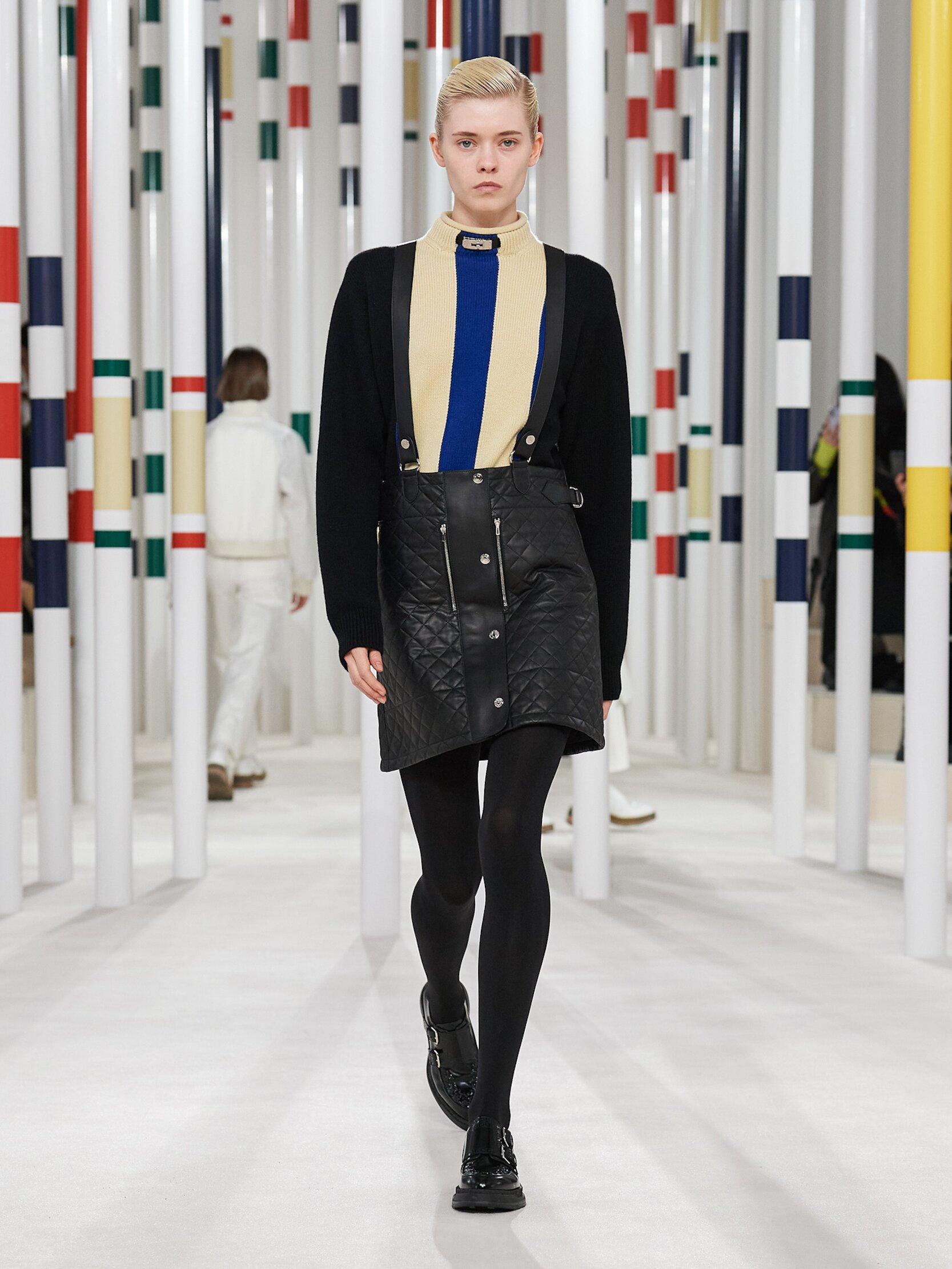 Fashion Show Woman Model Hermès Catwalk