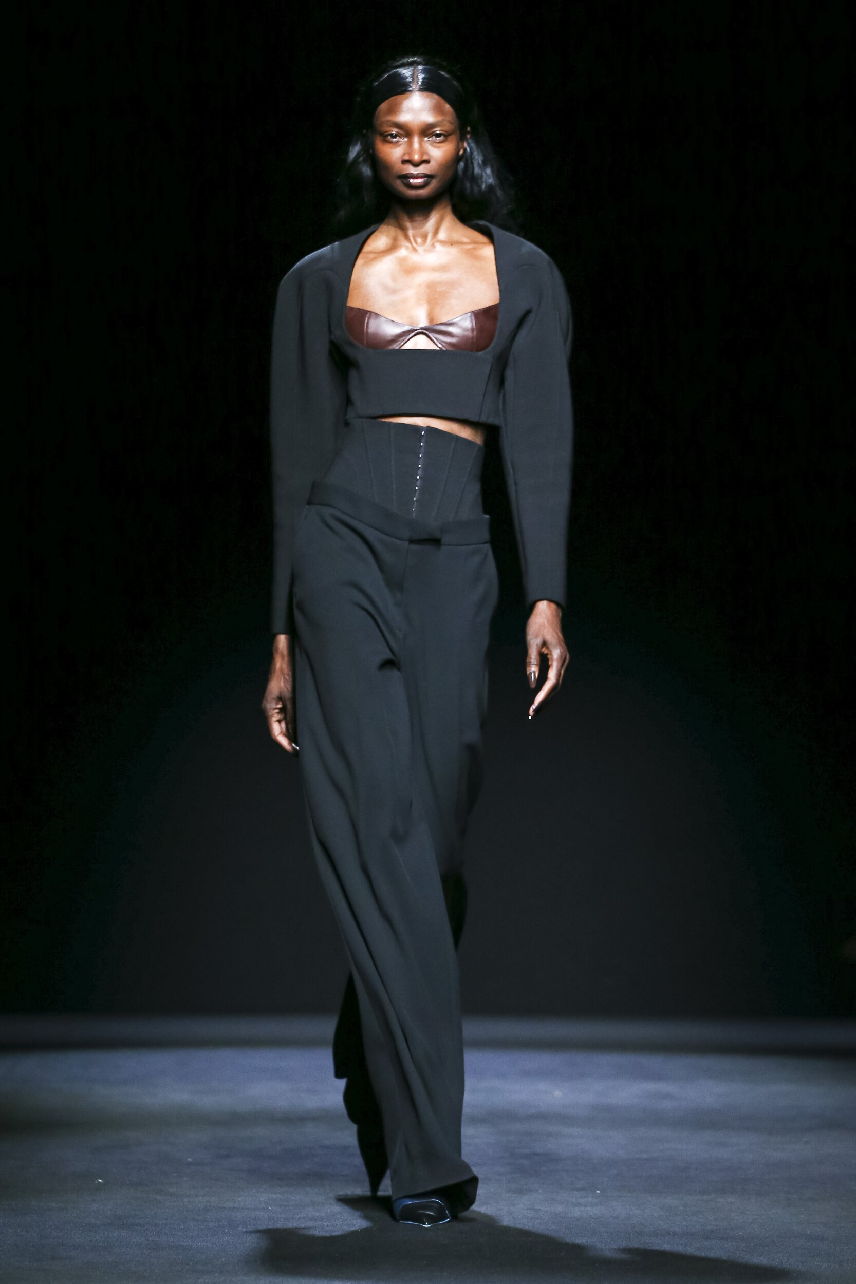 Fashion Show Woman Model Mugler Catwalk