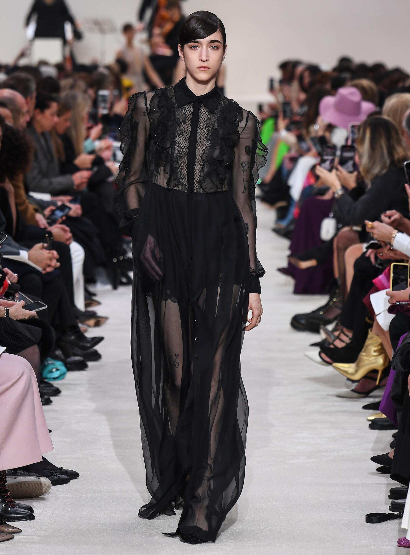 Fashion Show Woman Model Valentino Catwalk