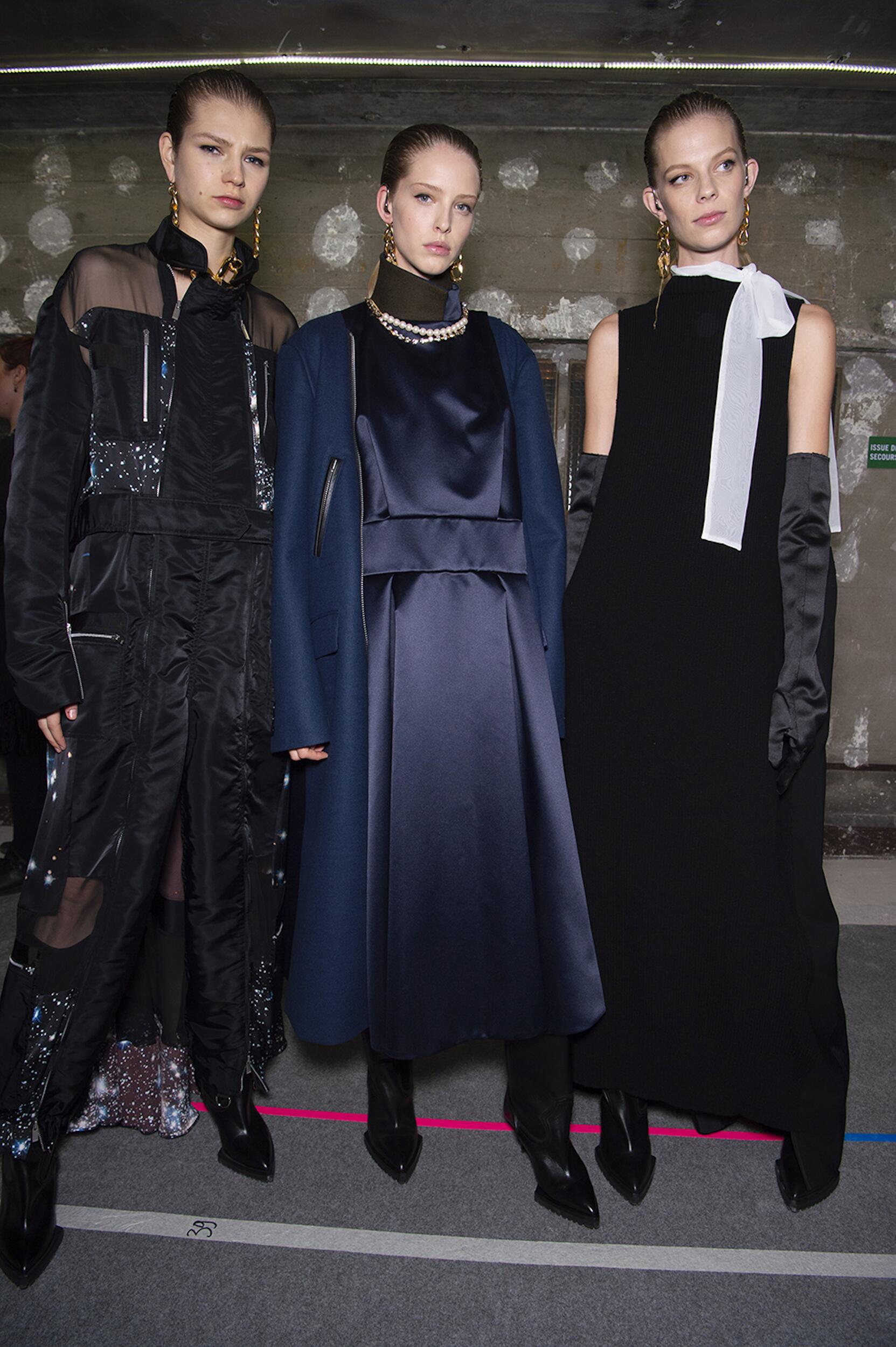 Fashion Women Backstage Sacai