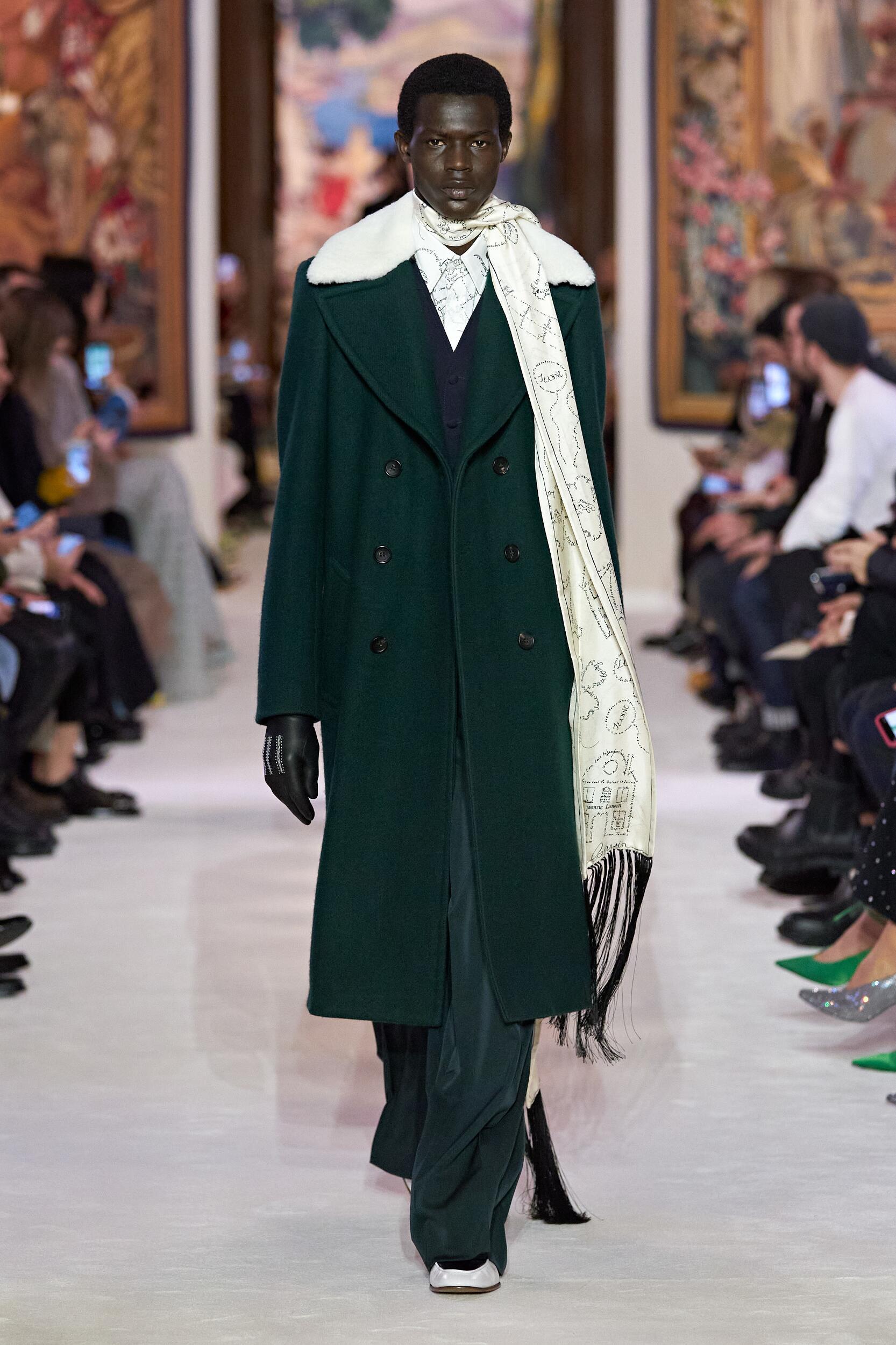 Man Fashion Model Lanvin Catwalk