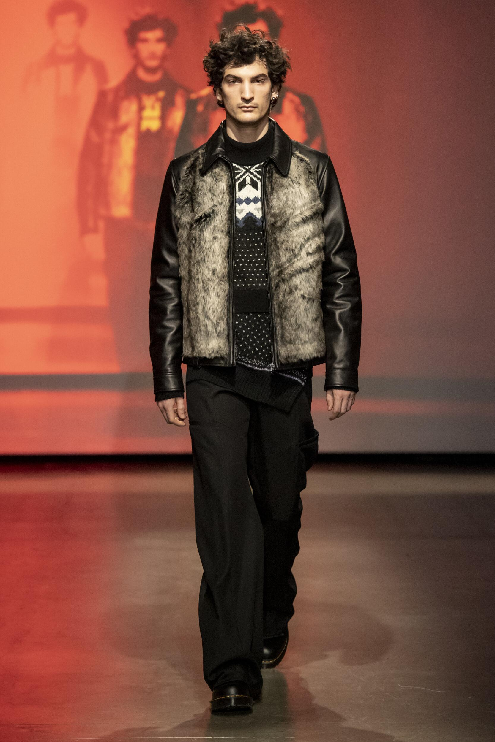Marine Serre Winter Menswear 2020 Catwalk