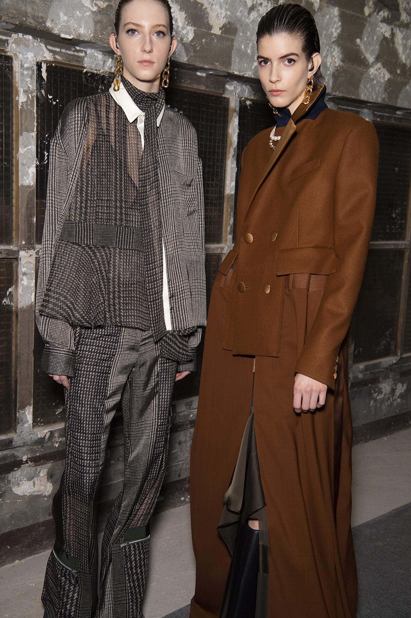 Models Fall Winter 2020 Backstage Sacai