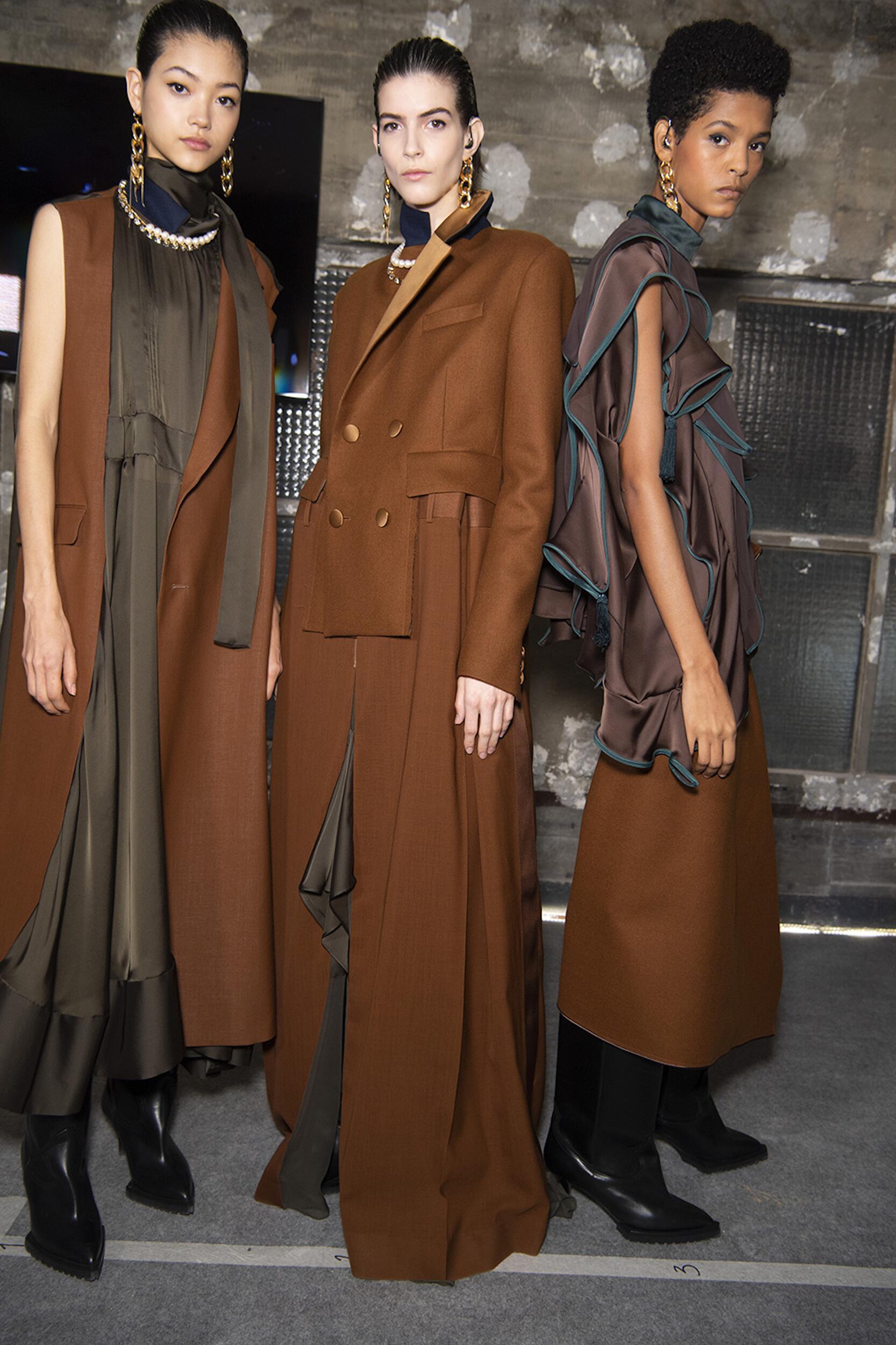 Models Fashion 2020 Backstage Sacai