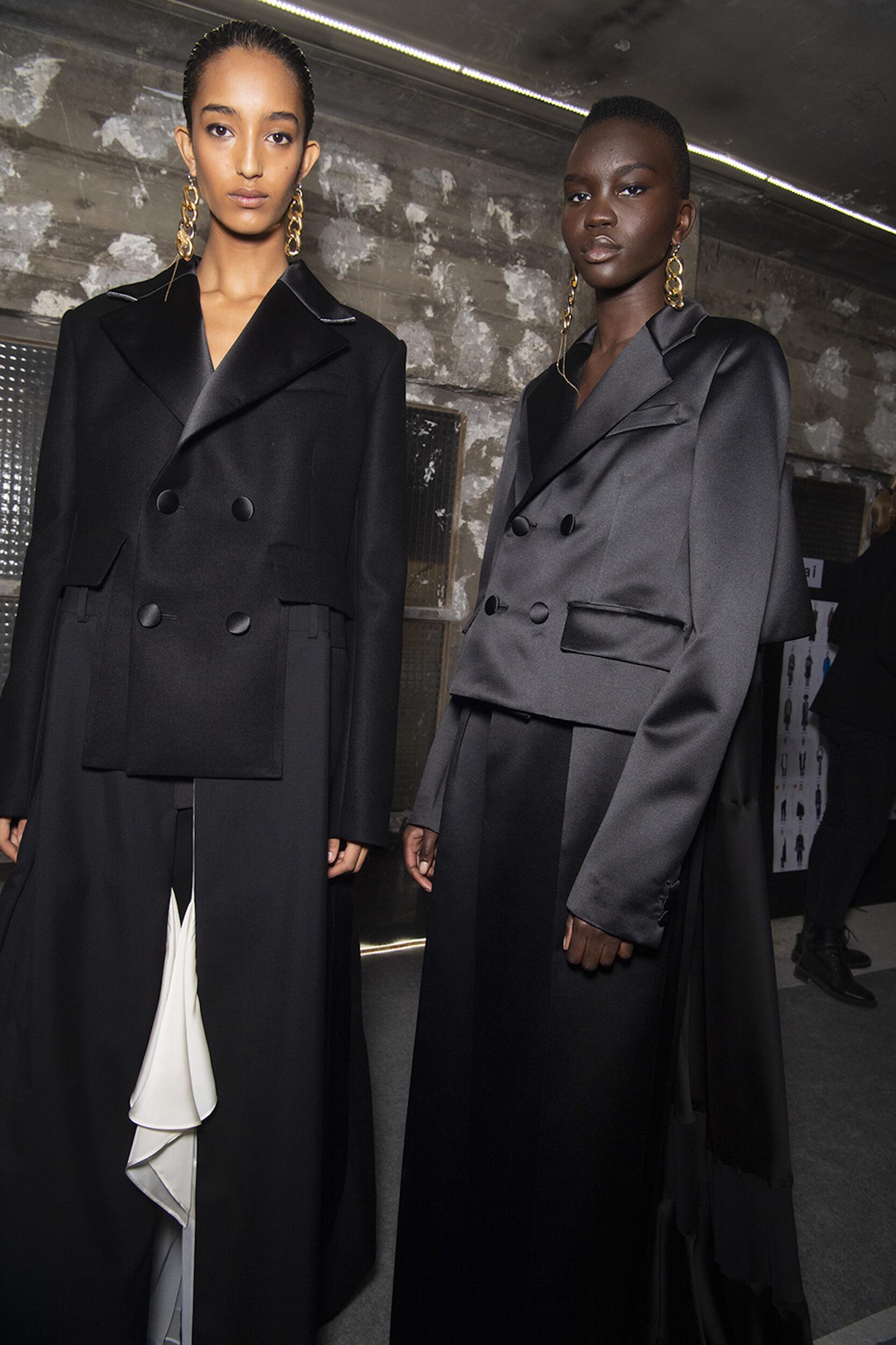 Models Trends Backstage Sacai