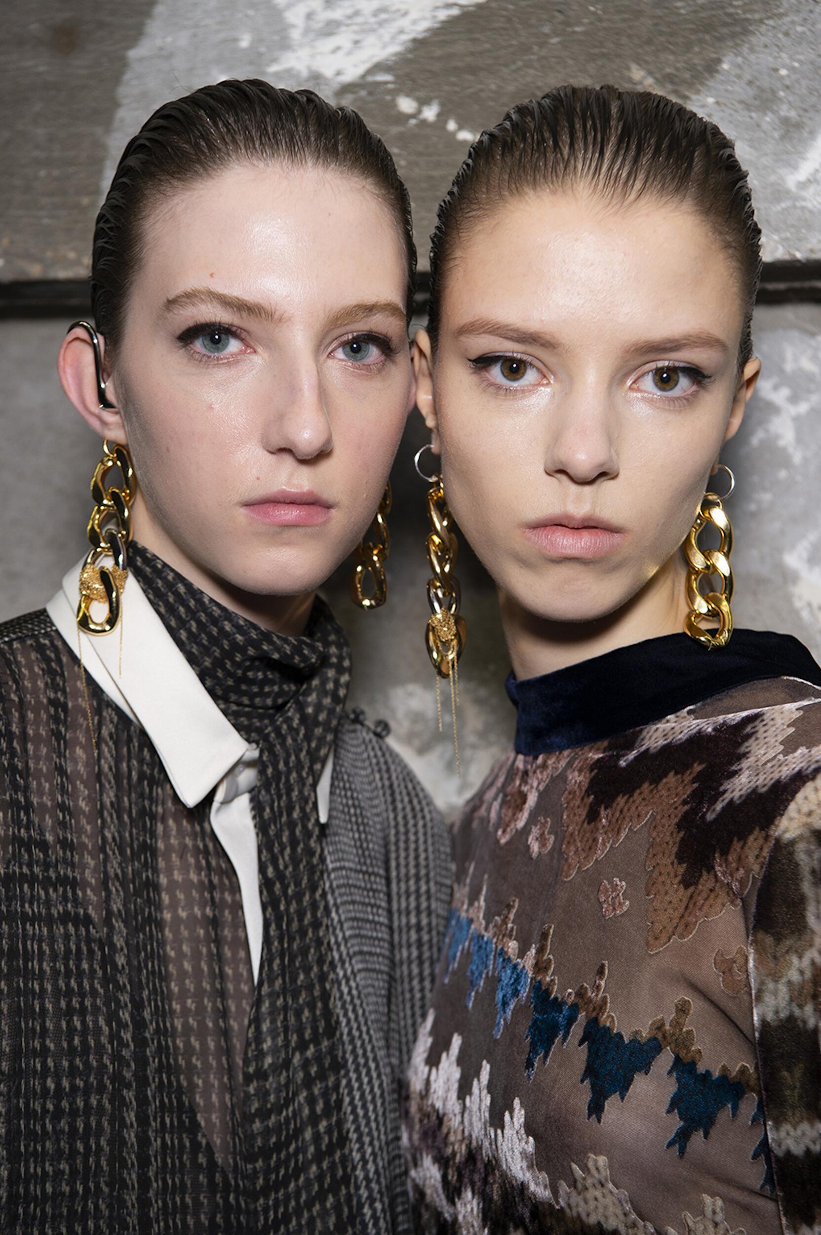 Portrait Models Backstage Sacai Fall Winter 2020 Women's Collection Paris Fashion Week