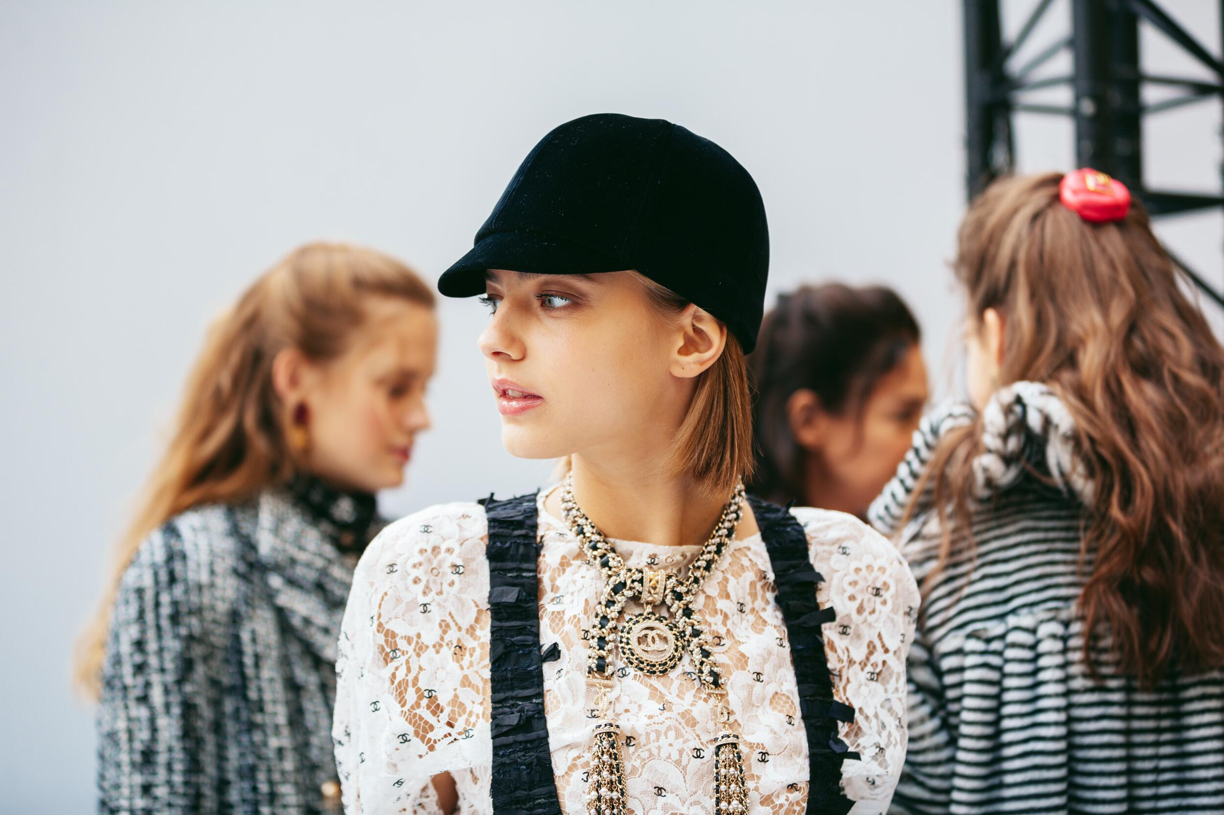 Womenswear 2020-21 Model Backstage Chanel