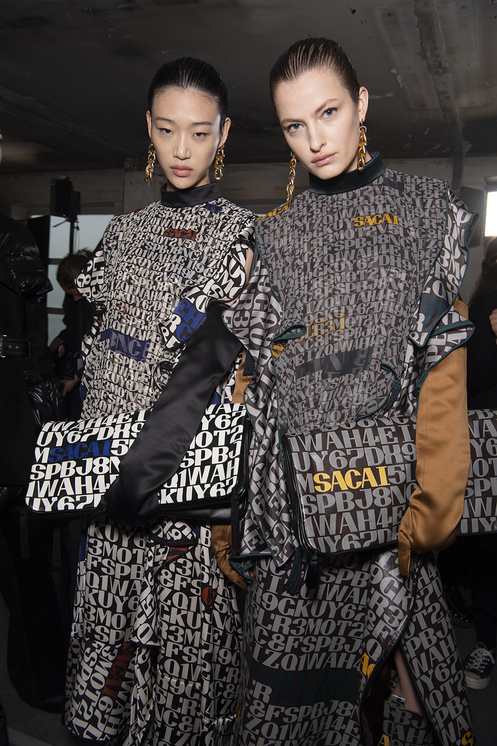 Womenswear Models Backstage Sacai